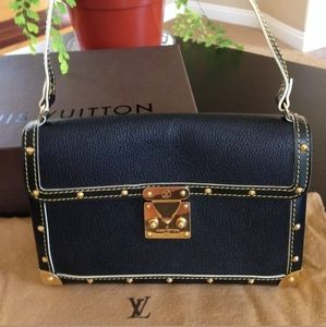 Authentic Louis Vuitton Black Suhali Bag